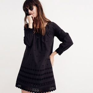 Madewell Embroidered Eyelet Shift Dress